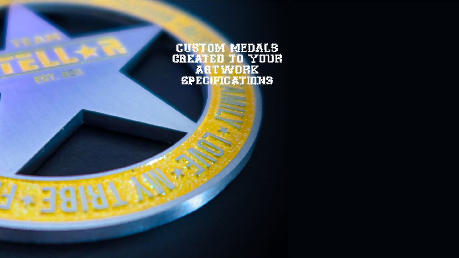 Stellar Medals Custom Created to your Artwork Specifications